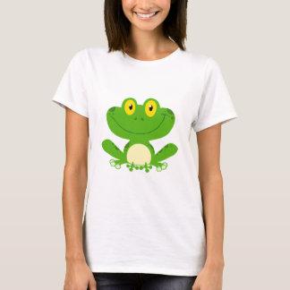 Frosch-Frosch-amphibisch grünes niedliches T-Shirt