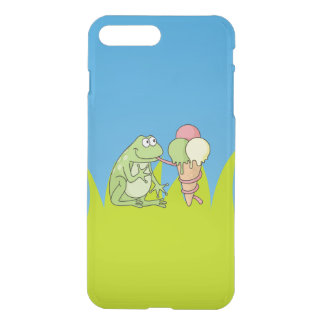 Frosch mit Eiscreme iPhone 8 Plus/7 Plus Hülle