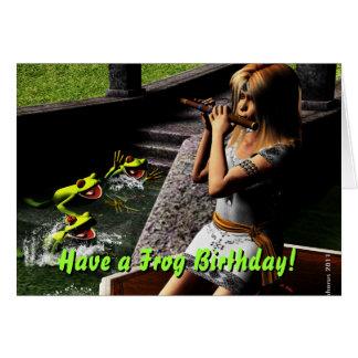Frosch-Prinz Birthday Wishes Karte