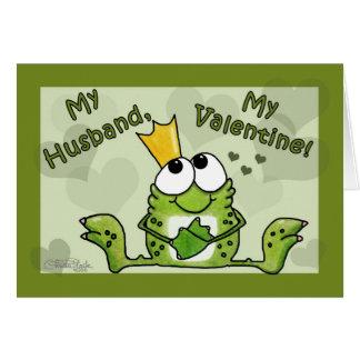 Frosch-Prinz Valentine für Ehemann Karte