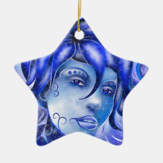 Frosinissia V1 - gefrorenes Gesicht Keramik Stern-Ornament