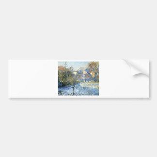 Frost durch Claude Monet Autoaufkleber
