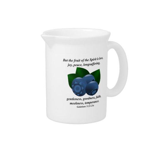Frucht des Geist-Maine-Blaubeerbibel-Verses Krüge