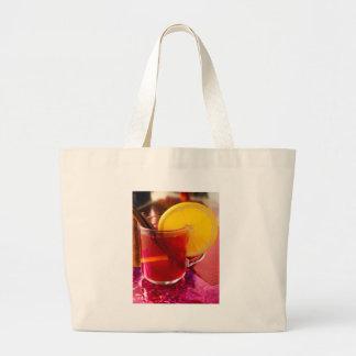 Frucht-Glühwein mit Zimt und Orange Jumbo Stoffbeutel