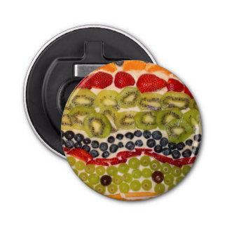 Frucht-Pizza-Nahaufnahme-Foto Flaschenöffner