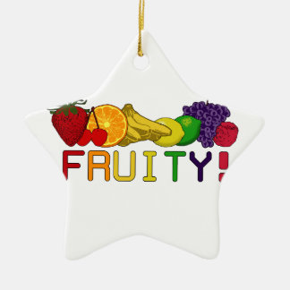 Fruchtige Frucht! Keramik Stern-Ornament