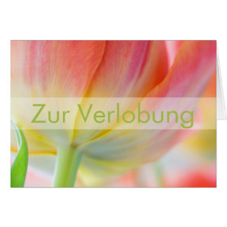 Fruehling • Glueckwunschkarte Verlobung Grußkarte