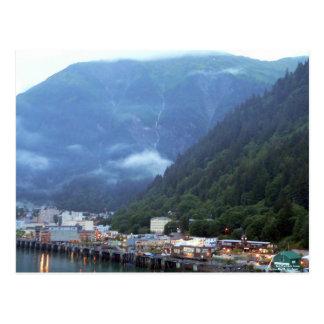 Früher Abend in Juneau-Postkarte Postkarte
