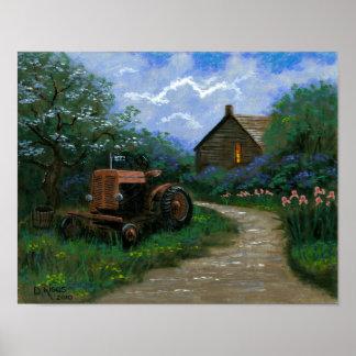 Frühjahr auf dem Bauernhof Poster
