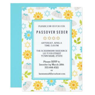 Frühjahr-Blumenpassahfest Sedar Einladungen