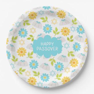 Frühjahr-Blumenpassahfest Sedar Pappteller
