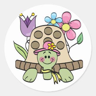 Frühjahr-Schildkröte-T-Shirts und Geschenke Runder Aufkleber