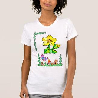 Frühjahr, Schmetterlinge und Gelbsterne T-Shirt