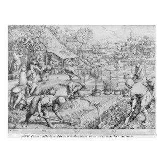 Frühling, 1565 postkarte