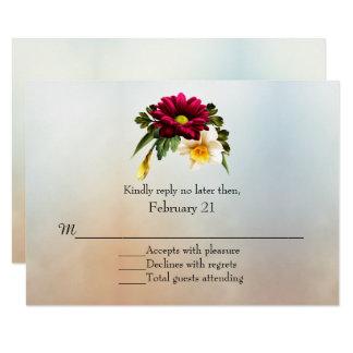 Frühling blüht Hochzeit UAWG Karte 8,9 X 12,7 Cm Einladungskarte