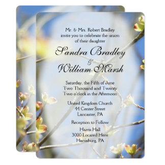 Frühling blüht Hochzeits-Einladung 16,5 X 22,2 Cm Einladungskarte