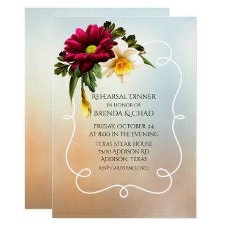 Frühling blüht Hochzeits-Proben-Abendessen 12,7 X 17,8 Cm Einladungskarte
