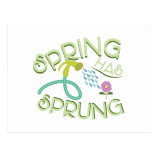 Frühling entsprungen postkarte