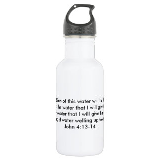 Frühling ewigen Wasser-Wasser-Flaschen-John-4:13 - Trinkflasche