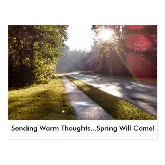 Frühling kommt! postkarte