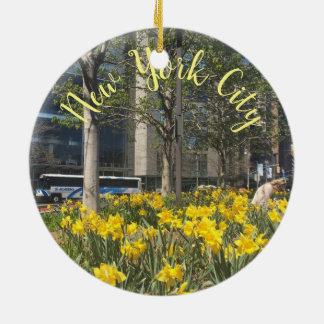Frühling New- York Keramik Ornament