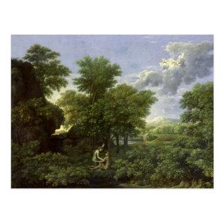 Frühling oder das Garten Eden Postkarte