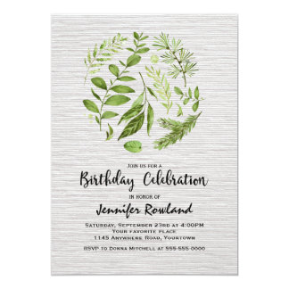 Frühling verlässt Geburtstags-Einladung 12,7 X 17,8 Cm Einladungskarte