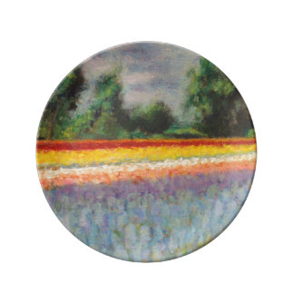 Frühlings-Blume stellt 1/3 auf Teller Aus Porzellan