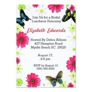 Frühlings-Blumen-Brautmittagessen-Einladung