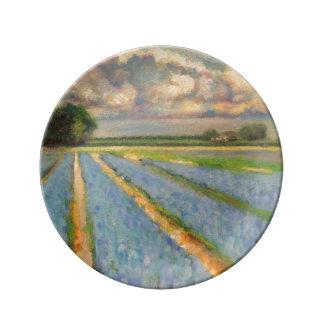 Frühlings-Blumen-Feld 3/3 Porzellanteller