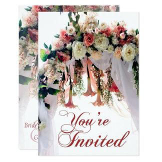 Frühlings-Blumen-Hochzeits-Bogen-Hochzeit laden Karte