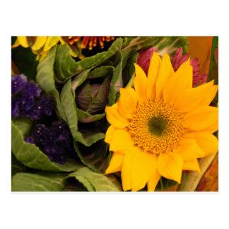 Frühlings-Blumen Postkarte