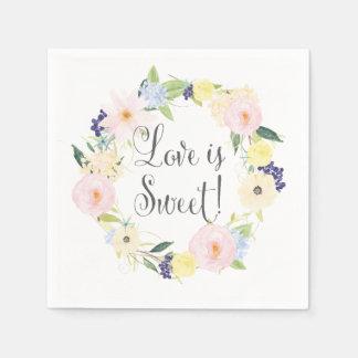 Frühlings-BlumenKranz-Hochzeits-Reihen-Servietten