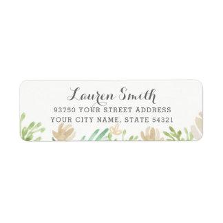 Frühlings-BlumenRücksendeadressen-Aufkleber Rückversand-Adressaufkleber