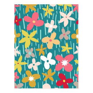 Frühlings-Blumenwiese Postkarte