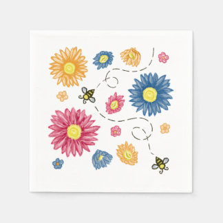 Frühlings-Farben Papierserviette