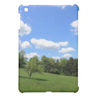 Frühlings-Landschaft an einem klaren blauen Tag iPad Mini Hülle