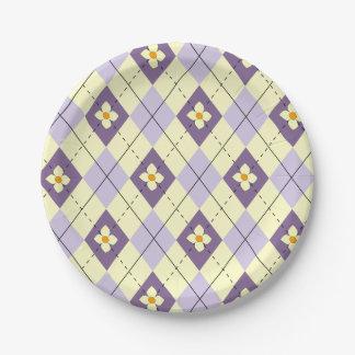 Frühlings-Raute Pappteller 17,8 Cm