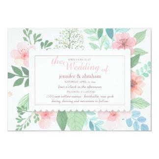 Frühlings-Romance Hochzeits-Einladungen 12,7 X 17,8 Cm Einladungskarte