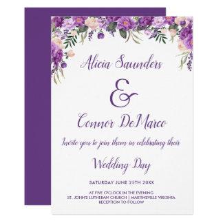 Frühlings-Sommer-lässige Hochzeits-mit Karte