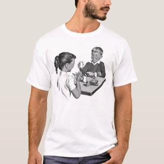 Frühstück der Meister-Vintagen Anzeige T-Shirt