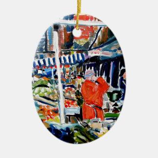 fruitnvegstall keramik ornament