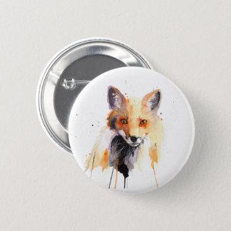 Fuchs-Aquarell pinback Knopf Runder Button 5,7 Cm