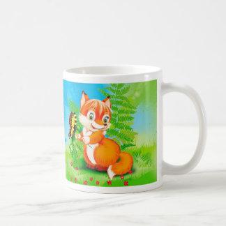 Fuchs und Schmetterling Tasse