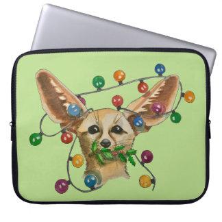 Füchse in den Glühlampen Laptopschutzhülle