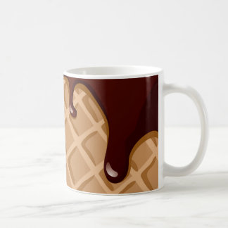 Fudge-Waffel-Kegel Kaffeetasse