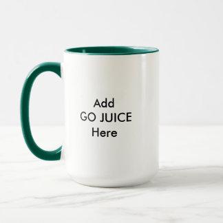Fügen Sie GEHEN SAFT hier hinzu Tasse