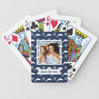 Fügen Sie Ihre Namens| Delphine auf Parade-Muster Bicycle Spielkarten