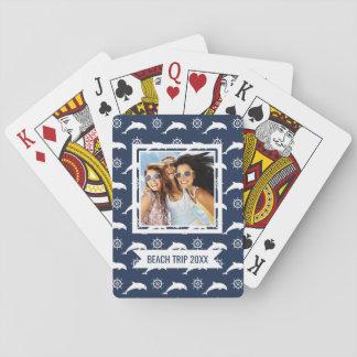 Fügen Sie Ihre Namens| Delphine auf Parade-Muster Spielkarten