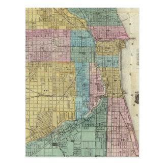 Führer-Karte von Chicago Postkarte